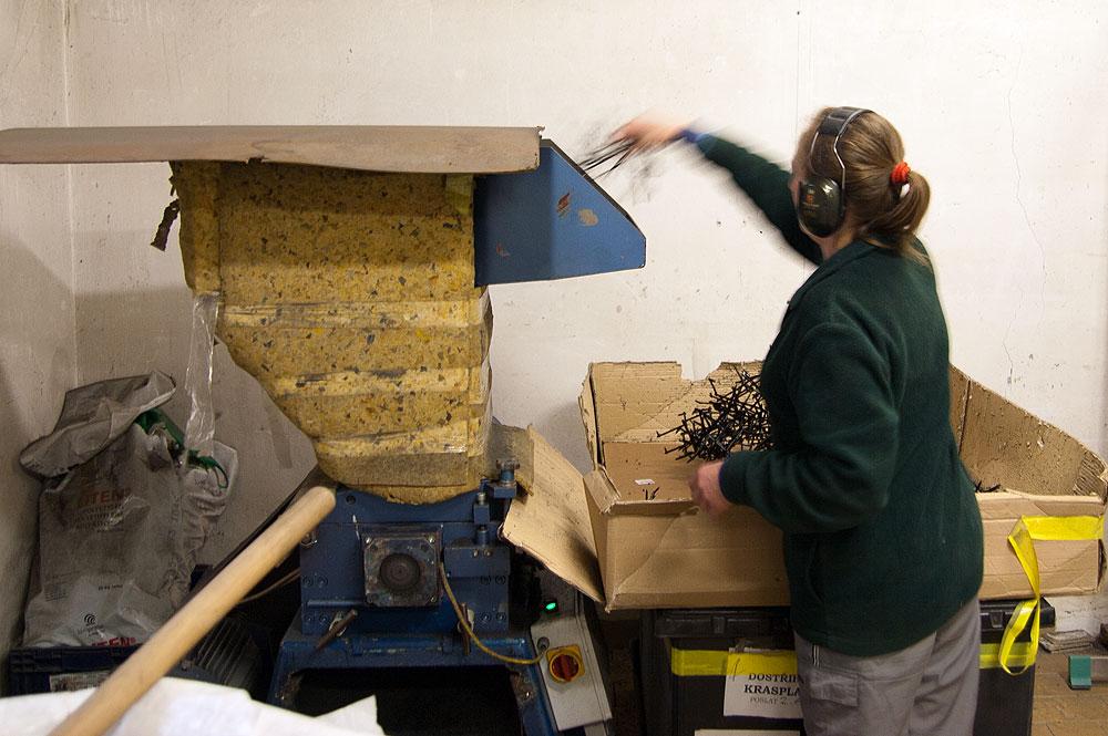 Spracovavanie odpadov - drvič
