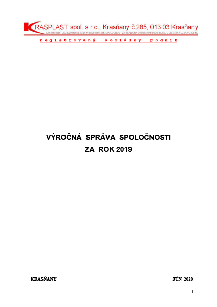 Výročná správa 2019
